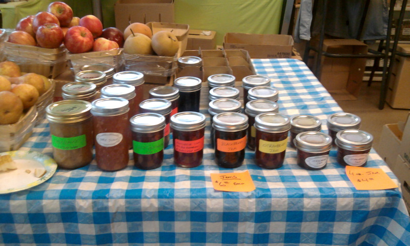 All Of our Jams and Jellies on Display!